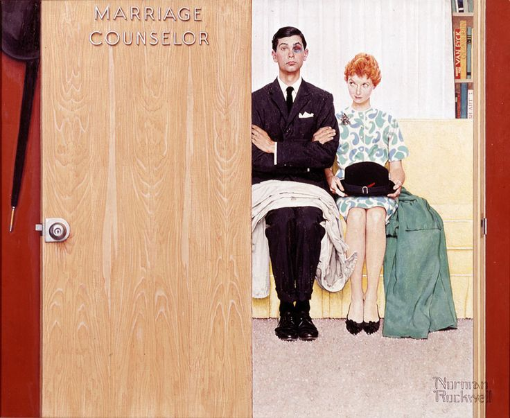 Norman Rockwell   You don't want to pick a fight with red-heads. Remeber Maureen O'Hara in The Parent Trap?... same result...