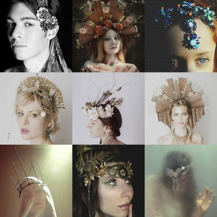 #Headdresses by Cristina Biella - www.facebook.com/elanorsoulcreativity #headpiece #headdress #crown #elanorlightart
