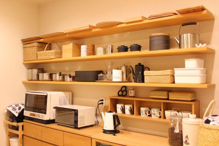 すっきり 見せるキッチン収納