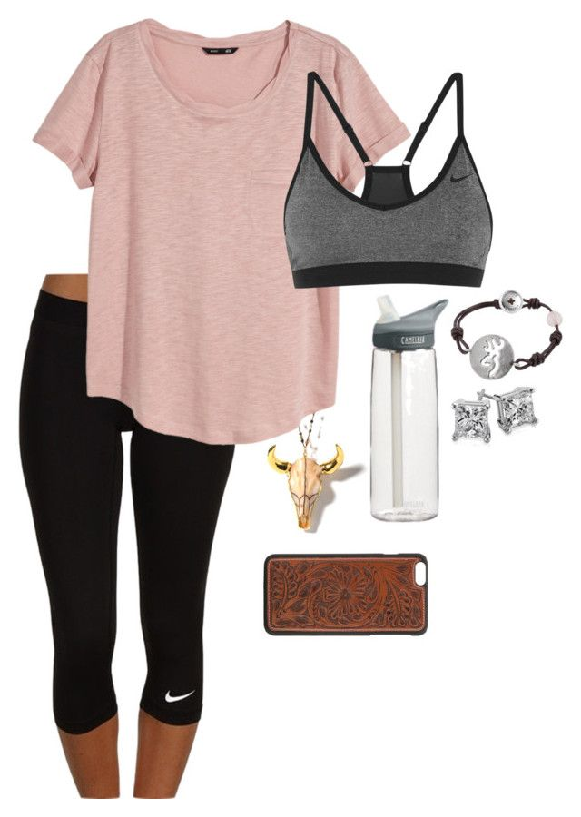 """""""Lazy lazy"""" by daddys-lil-redneck ❤ liked on Polyvore featuring NIKE, H&M, CamelBak and Blue Nile"""