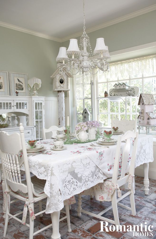 """Comfortable and casual Cottage decor plays with elements of formality and comfort. The use of lace table cloths, floral motifs and fine china bring an elegance to a dining area, while tied cushions and handmade birdhouses add a touch of country charm. The weathering of wood, as well as the exposed brick of the floor … Continue reading """"7 Ways to Get the Cottage Look Even Without a Cottage"""""""