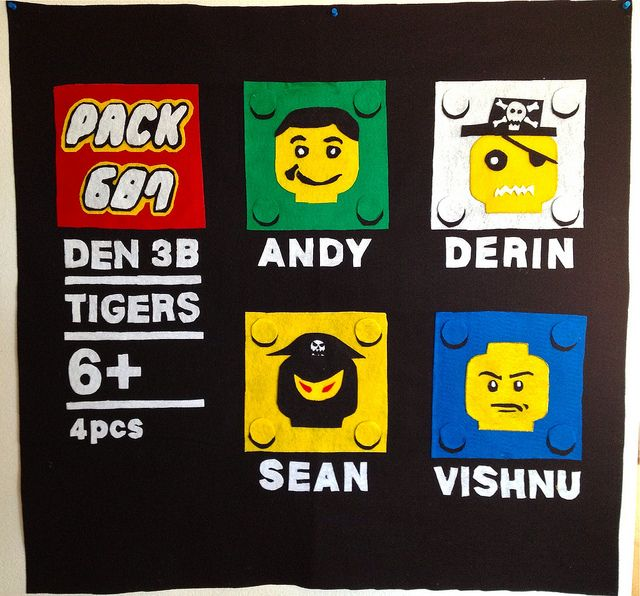 Lego based Cub Scout Den Flag by kn_97, via Flickr