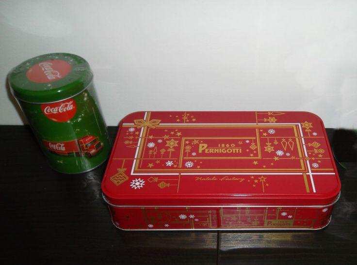 2 Contenitori in Latta Coca Cola + Pernigotti Vintage Collezione 2014  Nuovo
