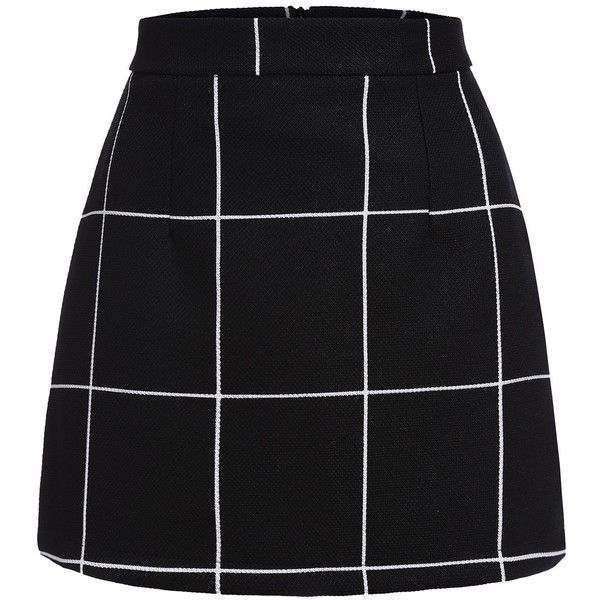SheIn Women's Plaid Bodycon Mini Skirt (245 MXN) ❤ liked on Polyvore featuring skirts, mini skirts, wide skirt, plaid miniskirts, short tartan skirts, body con skirt and short bodycon skirt