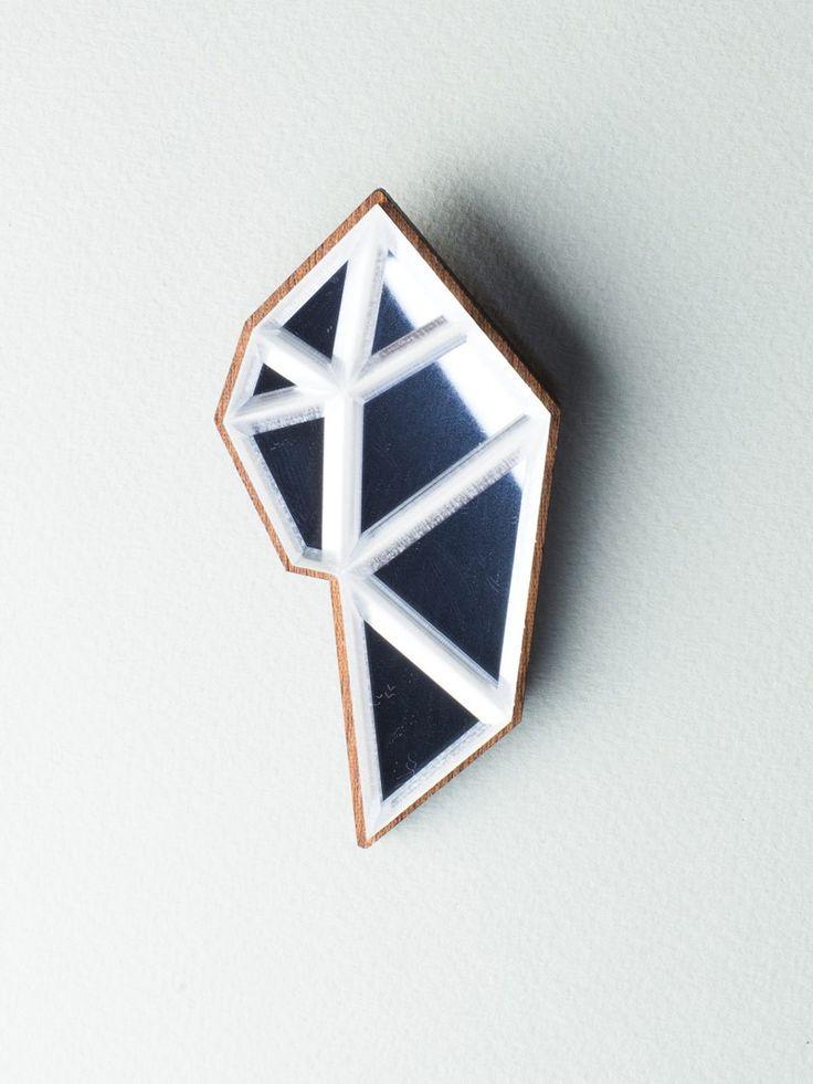 Mirror Flower Brooch  #jewelry #design #brooch