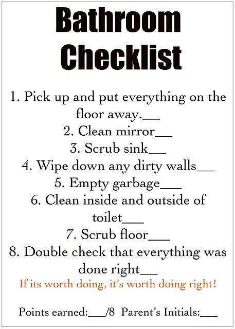 A list helps the kids do the job right  Cozi has starter lists for kids. 17 Best ideas about Room Cleaning Checklist on Pinterest