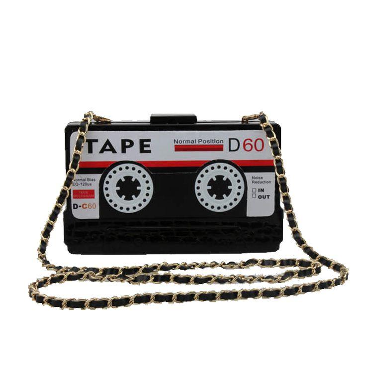 Persönlichkeit transparent band kassetten abend-handtasche acryl hartbox kupplung high-end handtasche kleine party geldbörse handtaschen //Price: $US $21.50 & FREE Shipping //     #dazzup