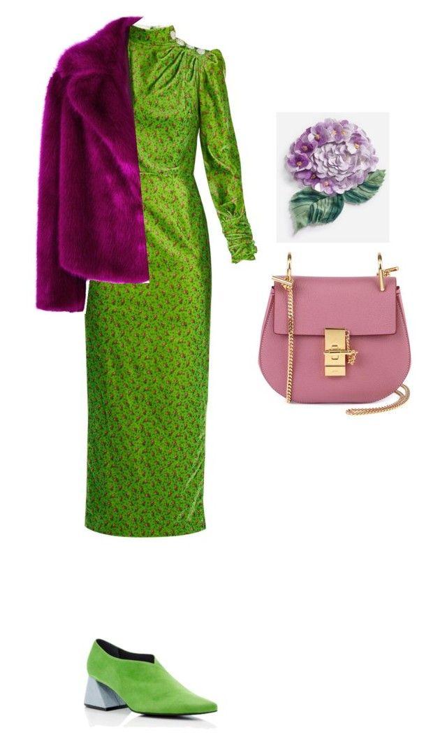 """контраст"" by elenton on Polyvore featuring мода, Alessandra Rich, Dries Van Noten, Chloé и Dolce&Gabbana"