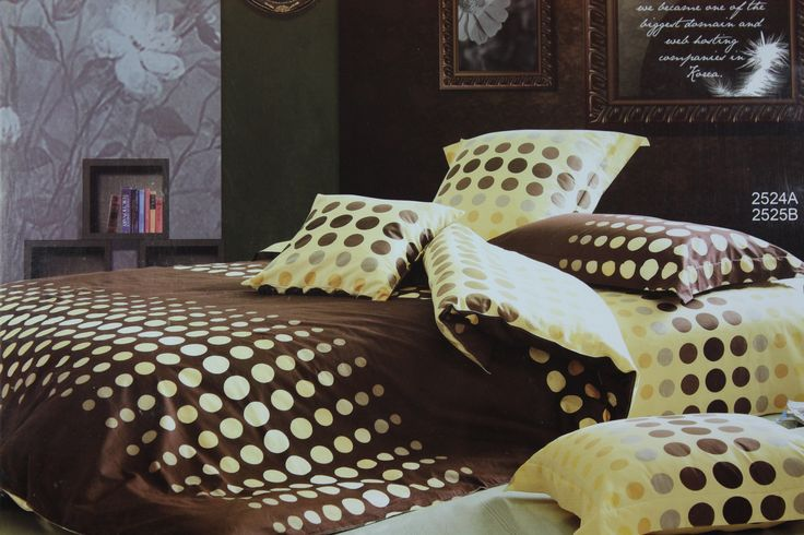Don't miss this unique and designer set of bed sheet (275*275cm) with contrast pillow case which is a rich combination of dark brown and Light yellow color in a classy dot pattern. The color combination makes this bed sheet set  very elegant and the dotted design exaggerate its beauty. The product is designed in super fine quality cotton fabric which is great for use in any season and is absolutely skin friendly.