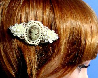 Items similar to Purple Rose Hair Comb - Lilac Flower by HotPinkChick on Etsy on Etsy