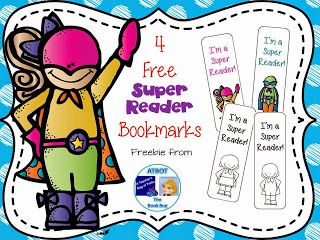 Calling All Super Readers!  These cute bookmarks are the perfect gift for all of your little super readers.  This freebie includes 2 colored bookmarks and 2 bookmarks that your students can decorate to look like themselves. Click HERE to download this freebie. I'd love to know what your super readers think of them.  A Teacher's Bag of Tricks Bookmarks K-2 super reader superhero The Book Bug