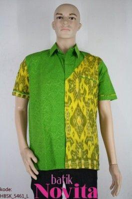 Baju Batik Pekalongan | Model Terbaru dan Modern | HBSK_5461 (L) - Hem Embos Tenun Songket - Batik Novita