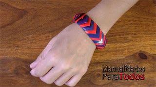 Manualidades para todos: Pulsera de cinta adhesiva