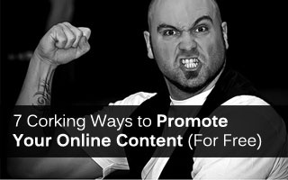 Writing the content is only half the job. Once you've finished, you now need to promote your glorious article.