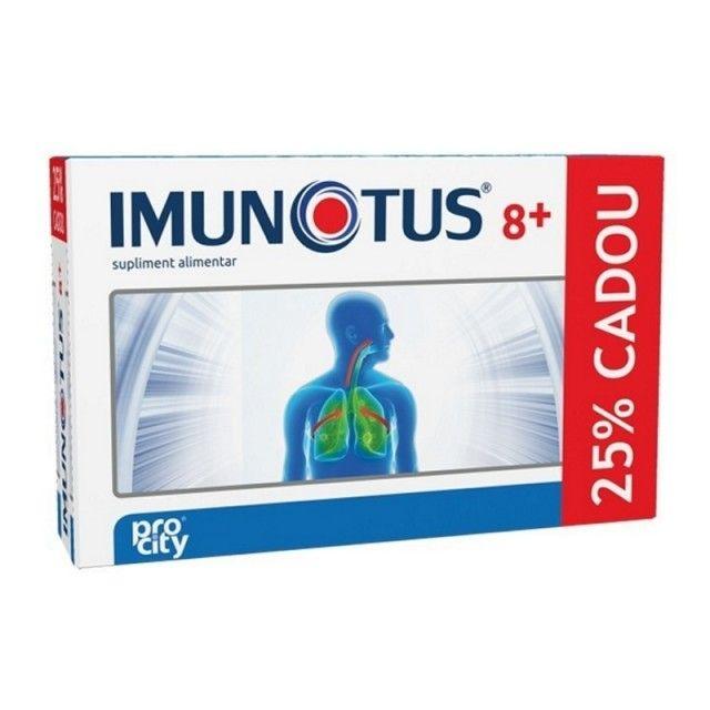 Imunotus 8+ - 8 dz+ 2 dz Gratis -  pentru copii cu vârsta de peste 8 ani, pentru menținerea sănătății tractului respirator, are acțiune de fluidificare a secrețiilor mucoase, îmbunătățește expectorația și menține starea de sănătate a căilor respiratorii, contribuie la funcționarea normală a sistemului imunitar.