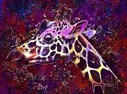 """New artwork for sale! - """" Giraffe Head Animal Ears Pattern  by PixBreak Art """" - http://ift.tt/2uaLIVe"""