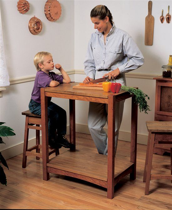 15 best interior home furnishings images on pinterest for Kitchen work table plans