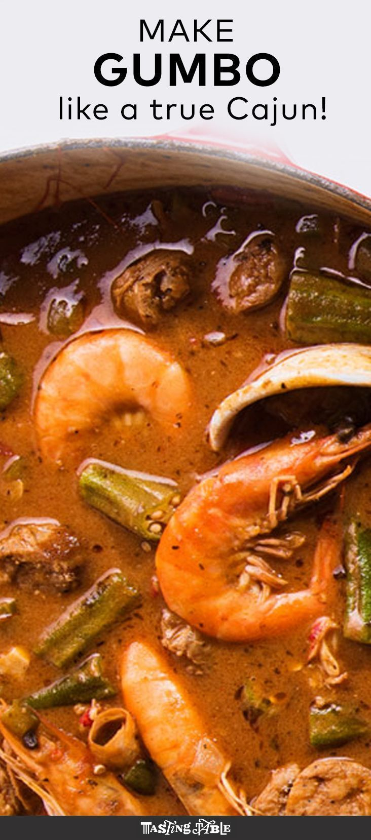 Make a jumbo pot of Louisiana-style seafood gumbo.