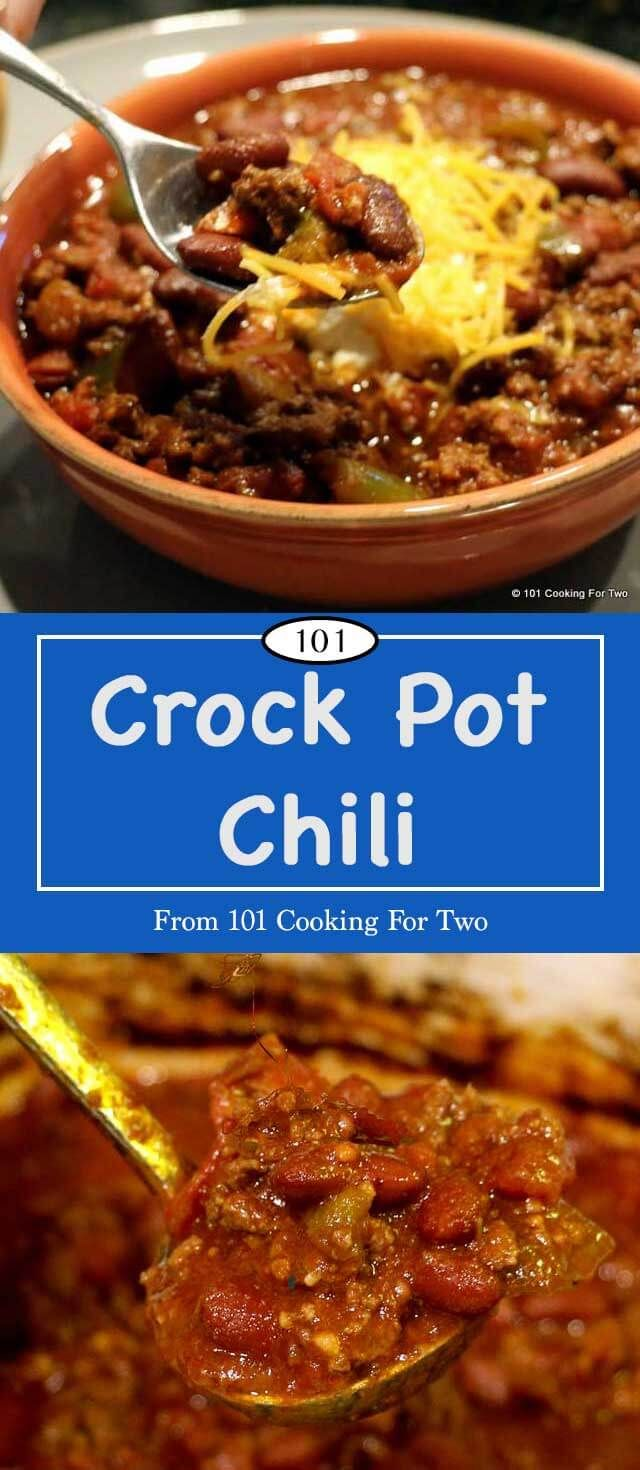 Who says everyday crock pot chili needs to be blah? A wonderful tasty red ground beef chili recipe made crock pot easy. A great hardy meal but good enough for that Superbowl party. via @drdan101cft