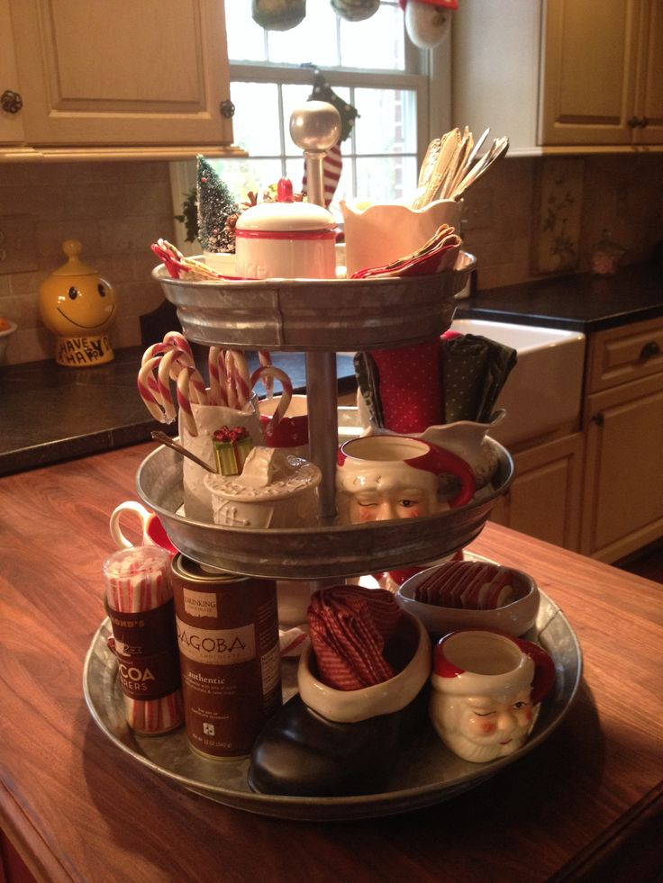 Christmas coffee bar.....great idea, can be changed to suit season. #conteluv #PinterestResolutions2016