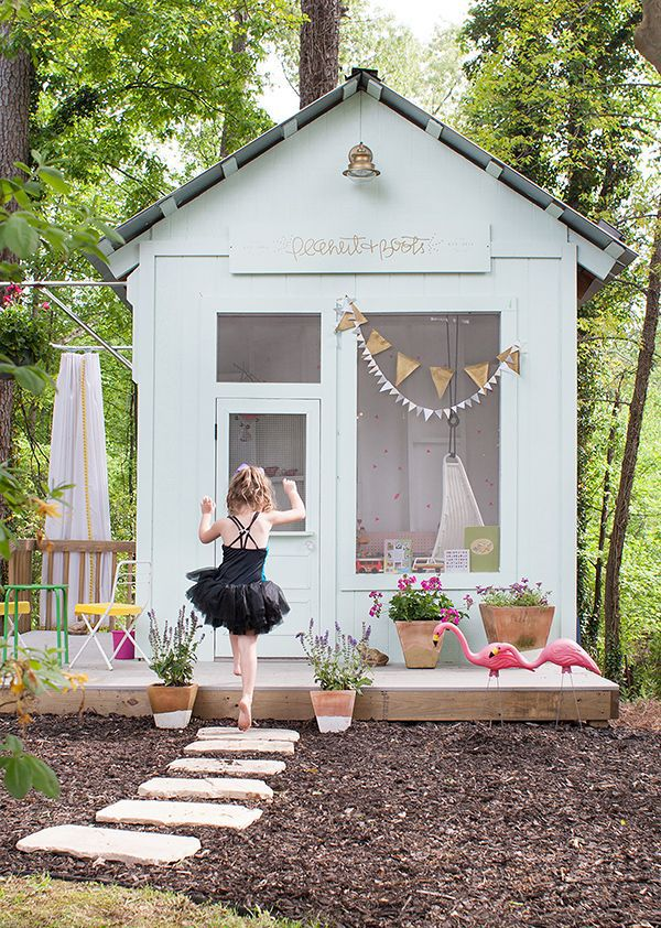 Best 25 kid playhouse ideas on pinterest childrens for Kids outdoor playhouse