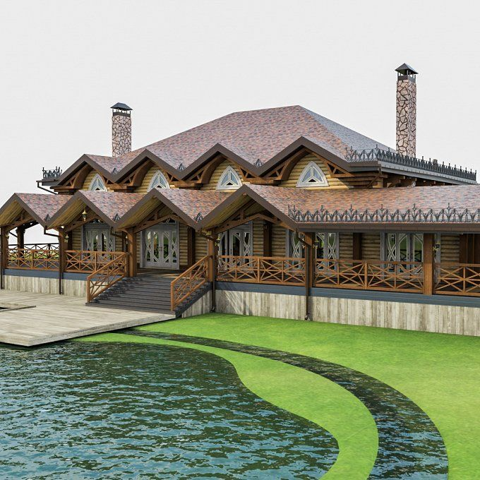 Chalet House by monogroup on @creativemarket