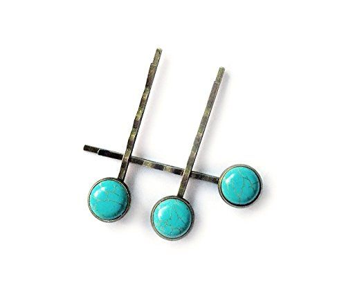 Turquoise Hair Clips - Set of three high quality bronze b... https://www.amazon.com/dp/B074TSRFD9/ref=cm_sw_r_pi_dp_x_1FQiAbT259QH4