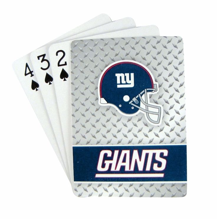 New York Giants Diamond Plate Playing Cards
