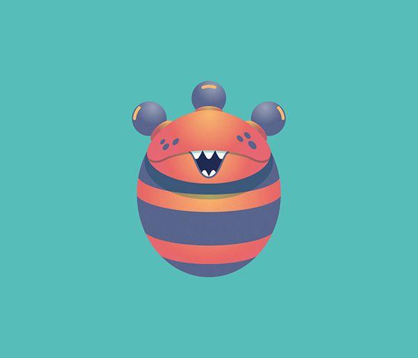Cute Monster III on Behance