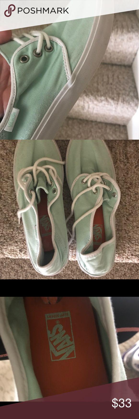 Mint Vans (Surf Siders) - Women's Brand new mint/ seafoam green Vans Surf Siders  - never worn! Vans Shoes Sneakers