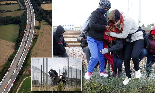 ANOTHER 1,500 migrants storm the Channel Tunnel