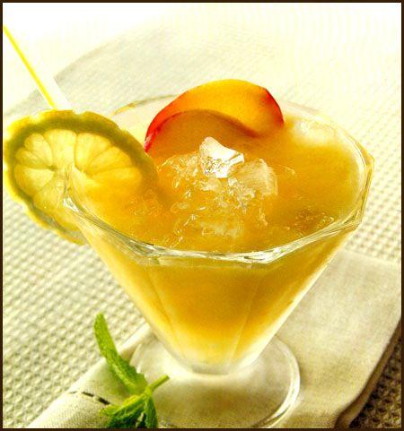 Granizado de limón y duraznos