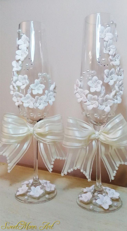 1099 best Wedding toasting flutes images on Pinterest ...