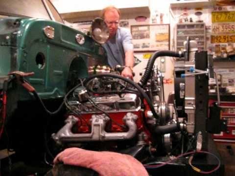 52 Chevrolet truck s10 frame 350 V8 - YouTube