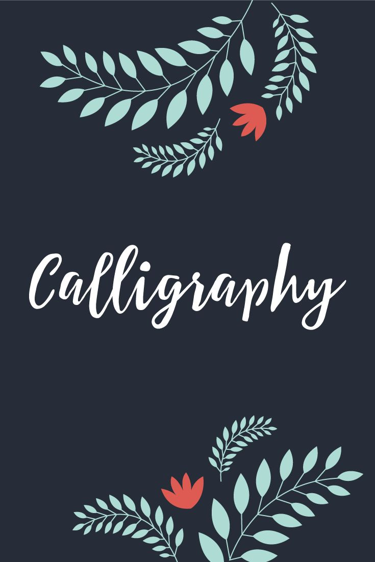 25 Best Ideas About Calligraphy Fonts On Pinterest