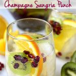 Champagne Sangria Punch -- drinks.