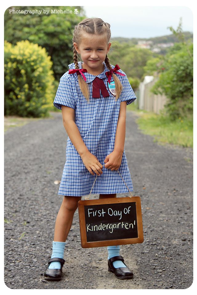 First Day of School Picture....only a few weeks to go till the big day!