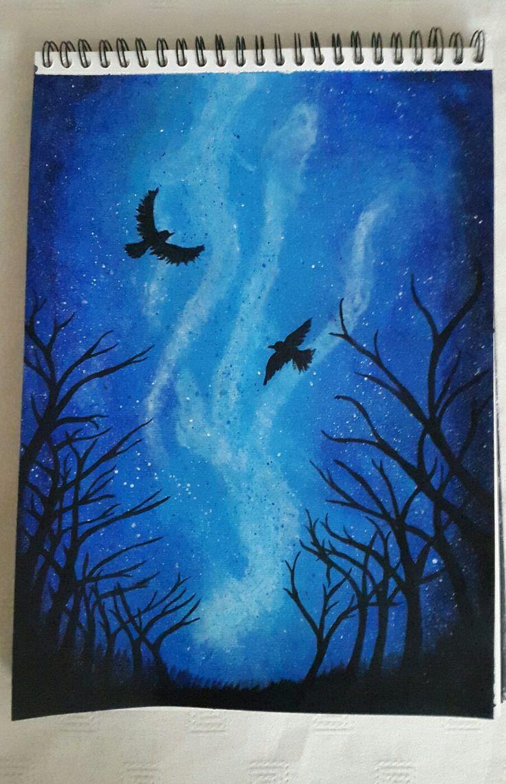 Night sky, acryl