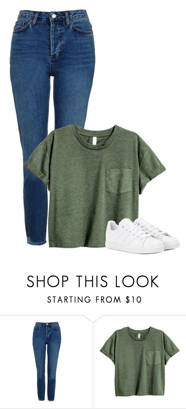 """Sin título #363"" by hxrrybae ❤ liked on Polyvore featuring Topshop, adidas, casual, outfit and girl"