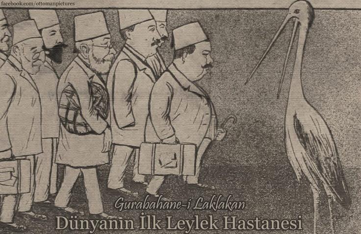 """DÜNYANIN İLK LEYLEK HASTANESİ: """"GURABAHANE-İ LAKLAKAN""""  Gurabahane-i Laklakan 19. yüzyılda başta leylekler olmak üzere göçmen kuşların bakım ve tedavisinin yapılması amacıyla Osmanlı döneminde Bursa'da kurulmuş dünyanın ilk hayvan hastanesidir."""