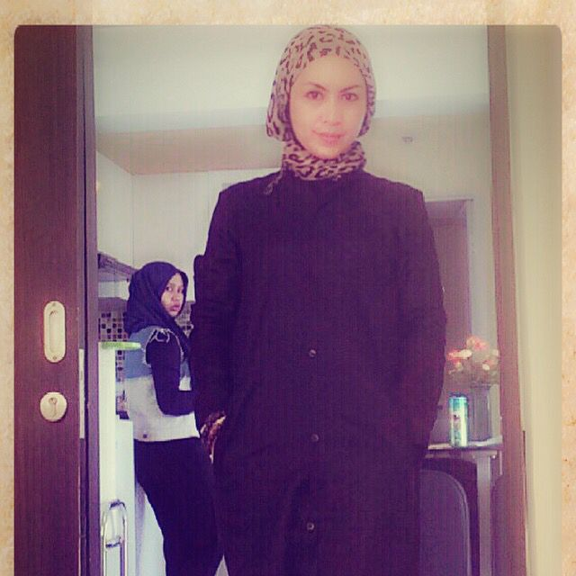 Simple hijab and cute vest