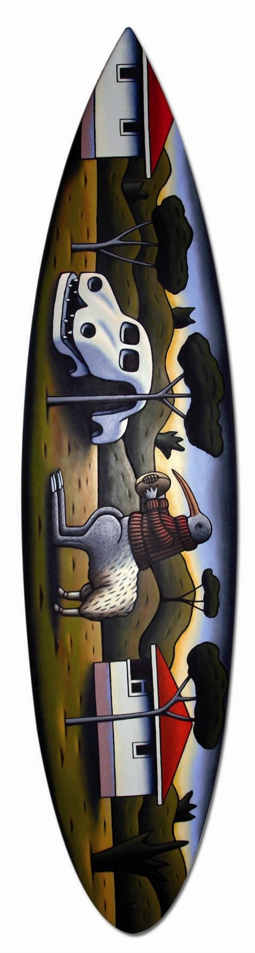 Reg Mombassa surfboard