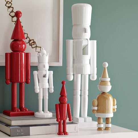 Spraypaint old Nutcrackers from thrift stores  | Holly Mathis Interiors