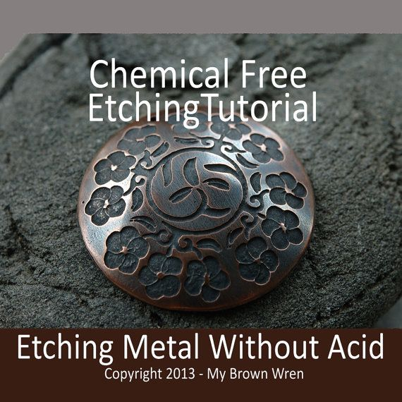 Have you ever been afraid of etching because of the hazardous chemicals and lengthy list of expensive and often hard to find items? Then this tutorial is for you.