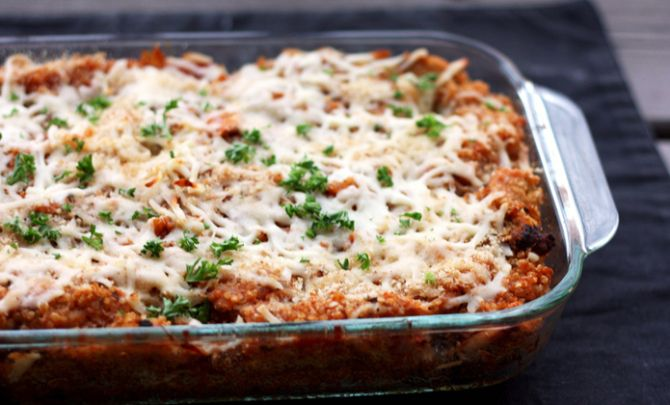 Baked Quinoa and Chicken Parmesan Recipe - Spry Living