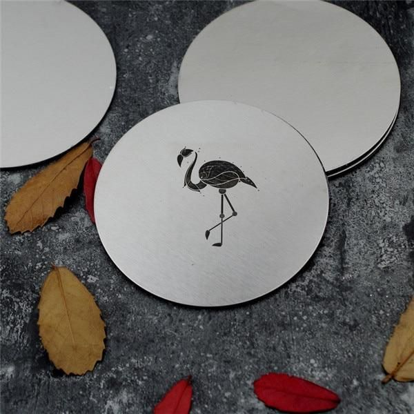 Stainless Steel Silver Coaster Set Will Be Perfect For Your Coffee Table Or Desk Specially Designed To Keep You Modern Coasters Cute Coasters Unique Placemats