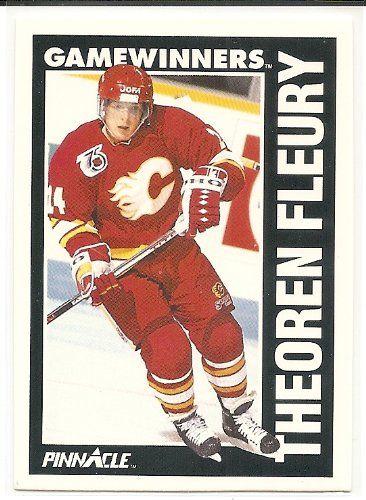 Theoren Fleury 1991-92 Pinnacle Calgary Flames Gamewinners Card 358 * See this great product.