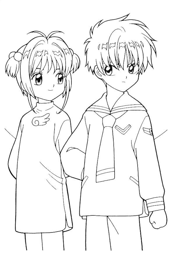 sakura 999 coloring pages - Cardcaptor Sakura Coloring Pages