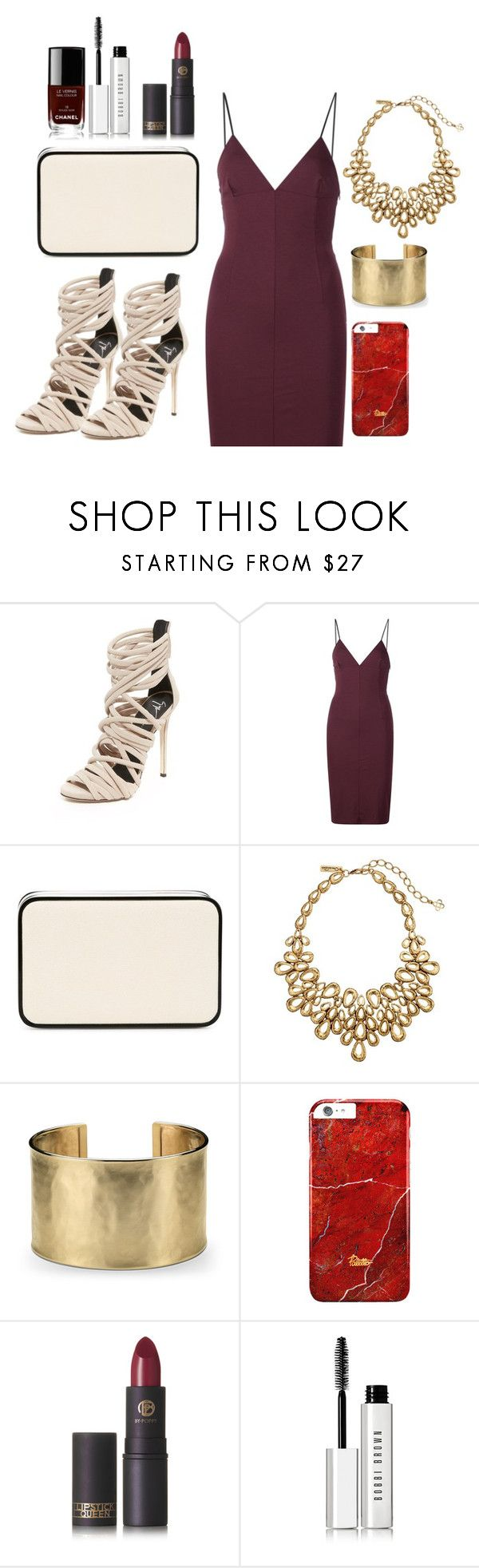 """""""Weekend Wedding in Southhampton: Rehearsal Dinner"""" by design360 ❤ liked on Polyvore featuring Giuseppe Zanotti, T By Alexander Wang, Valextra, Oscar de la Renta, Blue Nile, Lipstick Queen, Bobbi Brown Cosmetics and Chanel"""
