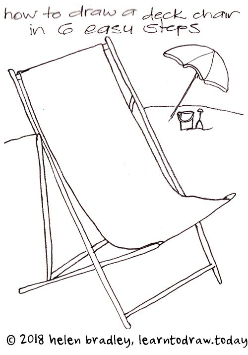 How To Draw A Beach Chair In Six Steps Beach Chairs Chair Drawing Easy Drawings